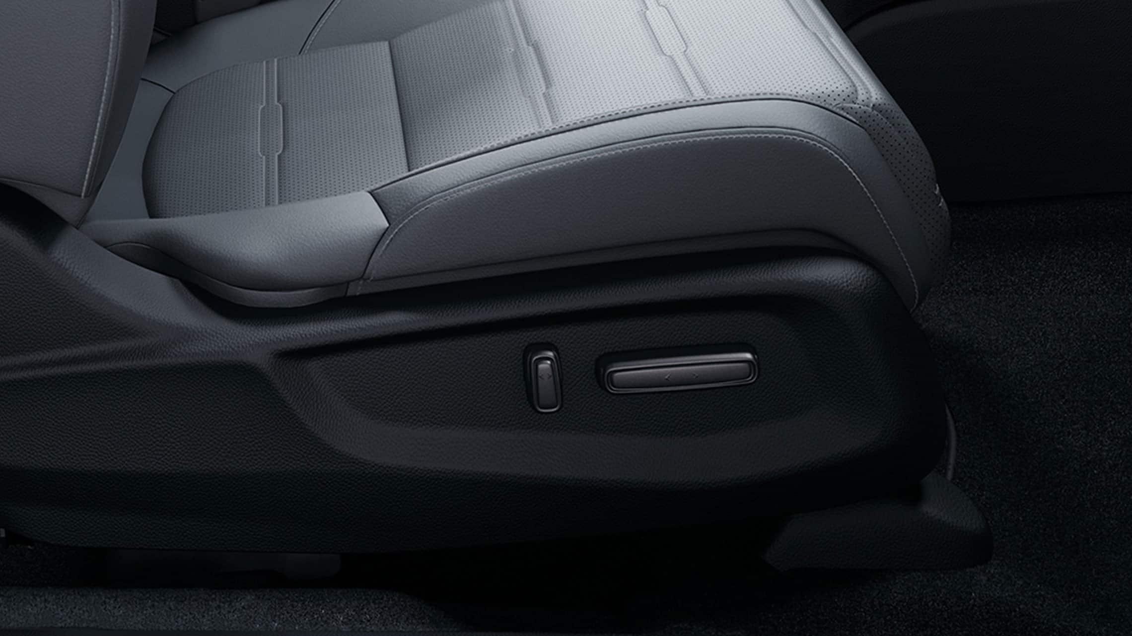 Detalle del asiento del pasajero delantero con ajuste eléctrico en la Honda CR-V2020.